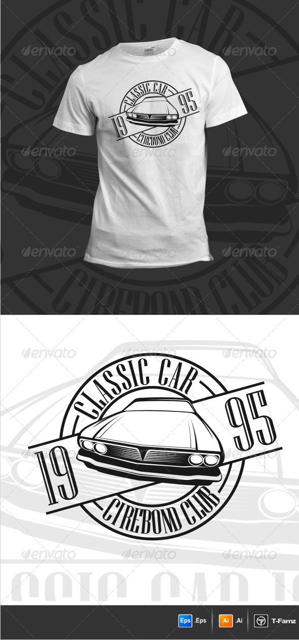 GraphicRiver Classic Car T-Shirts 6232437