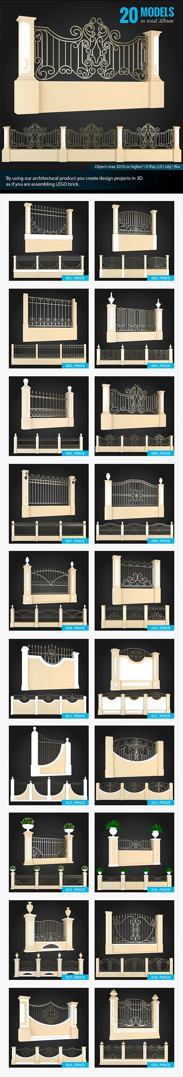 3DOcean Collection of Fences 6270286