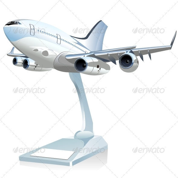 GraphicRiver Vector Cartoon Airliner 6270305