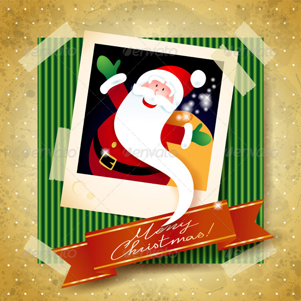 GraphicRiver Christmas Background with Funny Santa 6270311