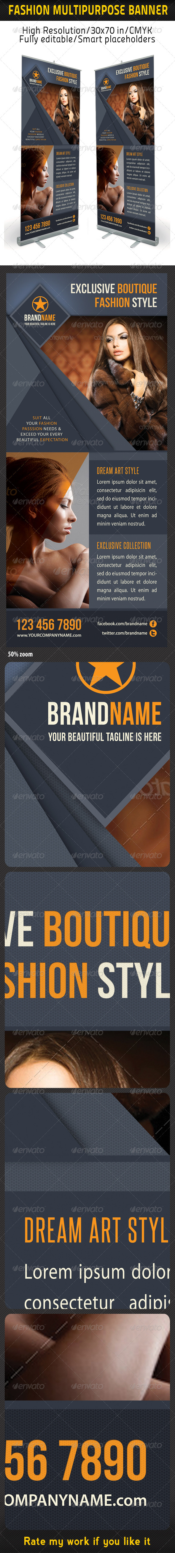 Fashion Multipurpose Banner Template 18 - Signage Print Templates