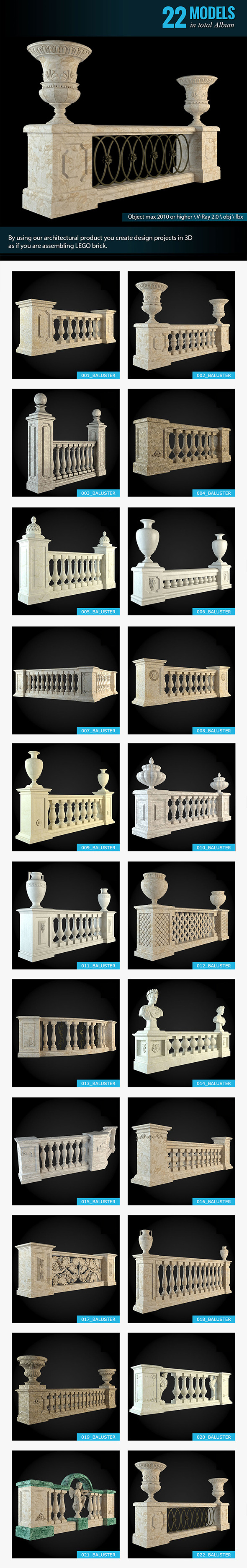 Balusters Album - 3DOcean Item for Sale