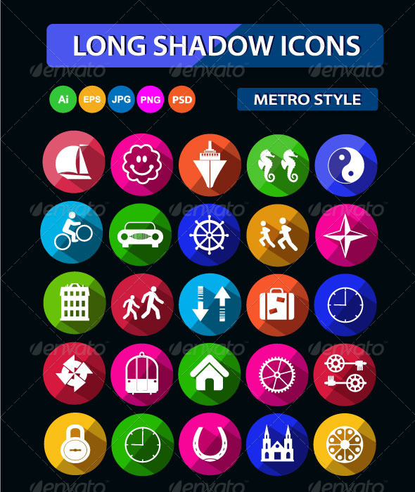 GraphicRiver Long Shadow Icons 6271000