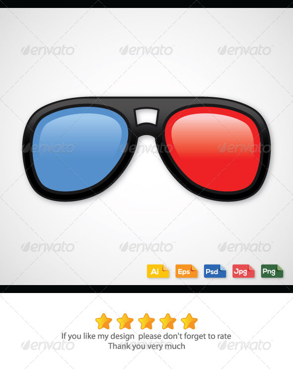 GraphicRiver 3D Glasses 6271035