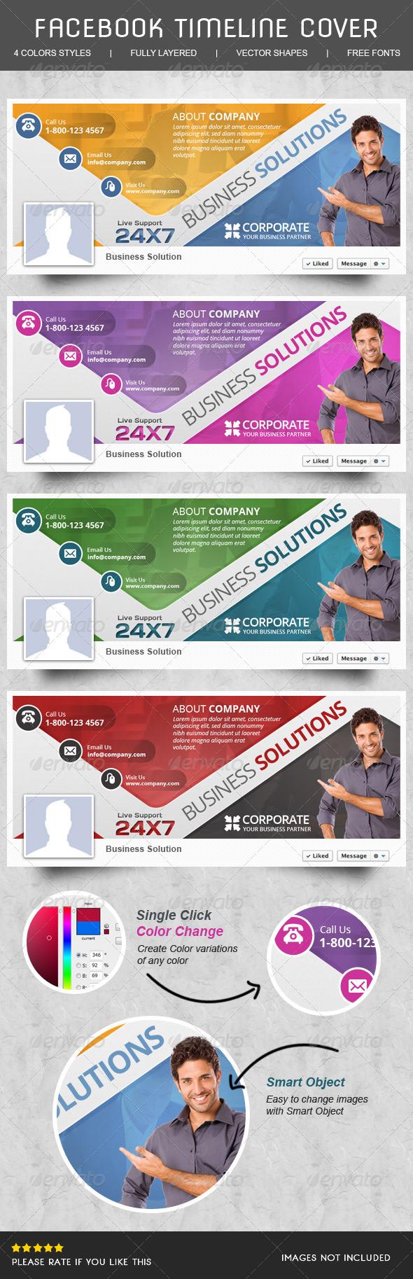 GraphicRiver Corporate Facebook Timeline 6271085