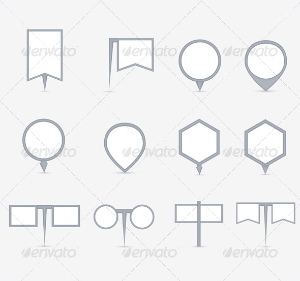 GraphicRiver Set of Navigational Markers 6271107