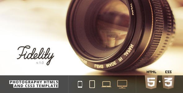 ThemeForest Fidelity Photography HTML5 CSS3 Template 6271223