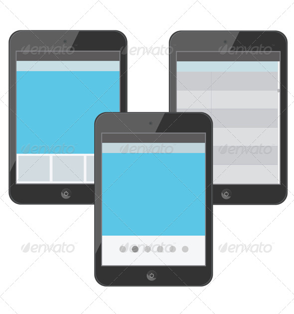 GraphicRiver Set of Digital Devices with Tabs 6271447