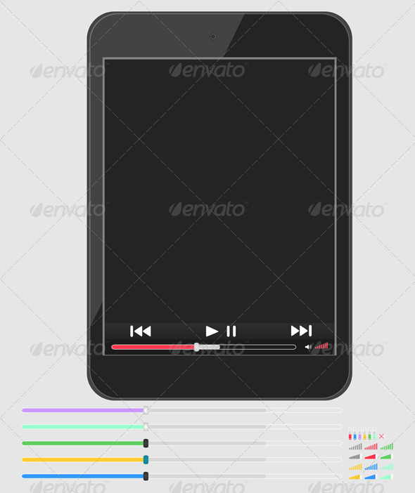 GraphicRiver Layout Smartphone with Multimedia Player 6271817
