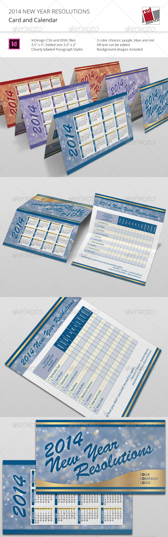 GraphicRiver 2014 New Year Resolutions Card and Calendar 6230600