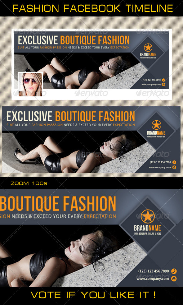 GraphicRiver Fashion Facebook Timeline 03 6271954