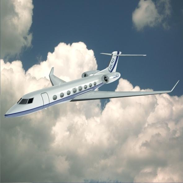 3DOcean Gulfstream G650 N650 GA lowpoly business jet 6272119