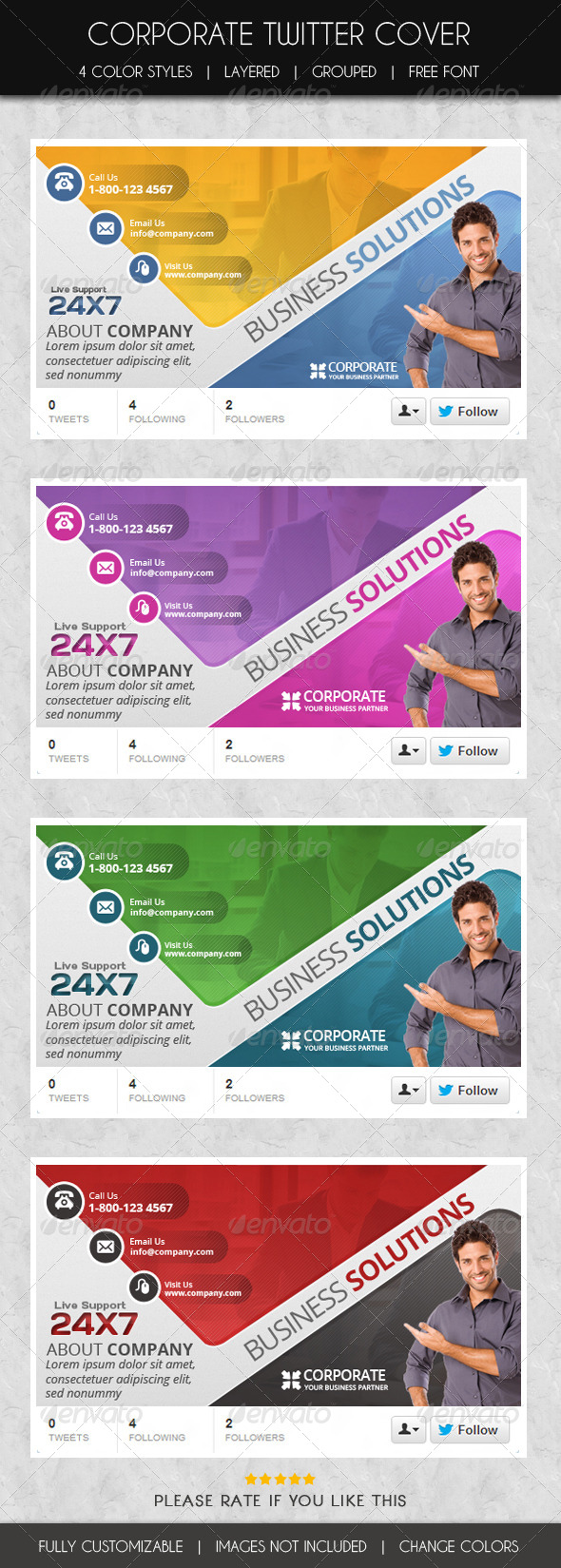 GraphicRiver Corporate Twitter Cover 6272274