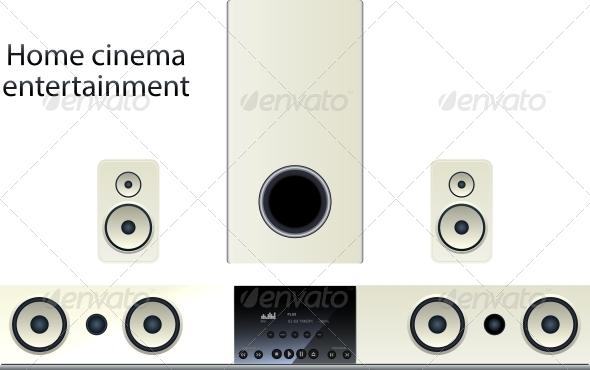 GraphicRiver Home Cinema Speaker System 6272461