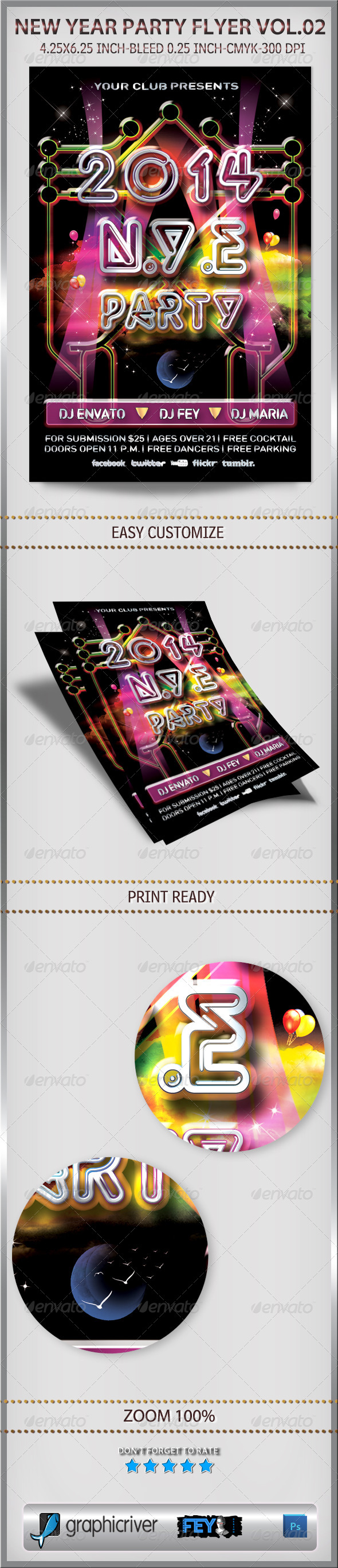 GraphicRiver New Year Party Flyer Vol.02 6272499