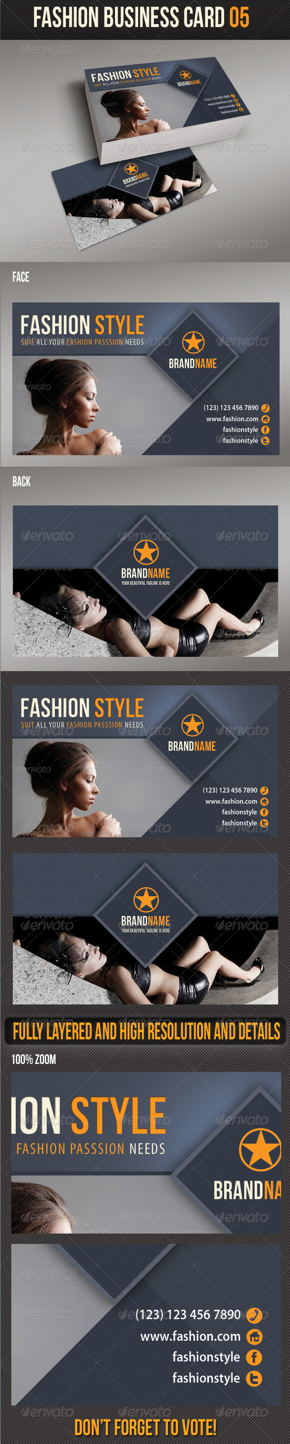 GraphicRiver Fashion Business Card 05 6272722