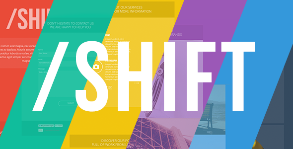 ThemeForest Shift One Page Muse Theme 6272857