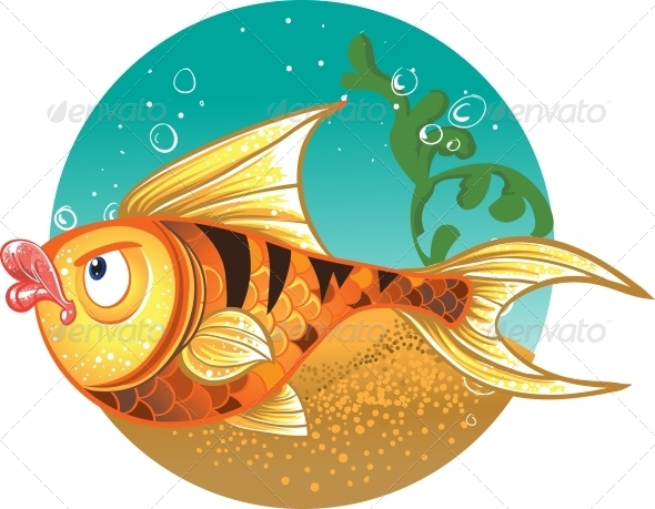 GraphicRiver Gold Fish with Tiger Stripes 6273085