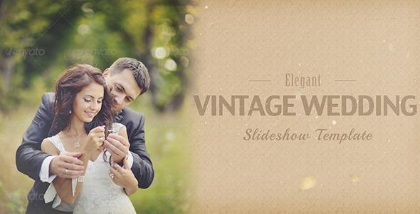 elegant vintage wedding album slideshow by jockelarsson videohive. Black Bedroom Furniture Sets. Home Design Ideas