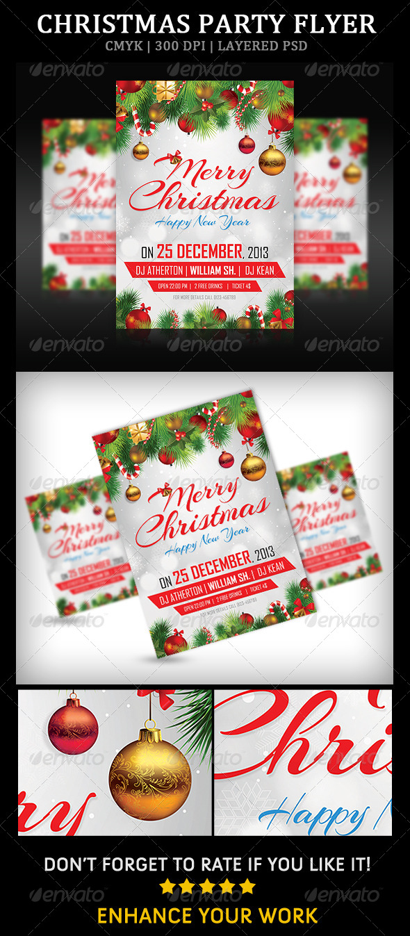 GraphicRiver Christmas Party Flyer 6273266