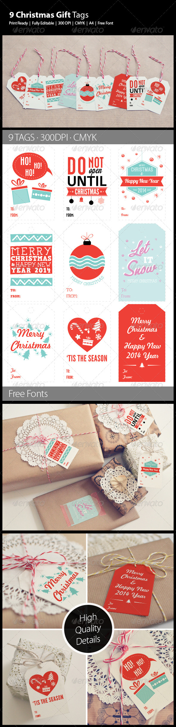 GraphicRiver 9 Christmas Gift Tags 6243331