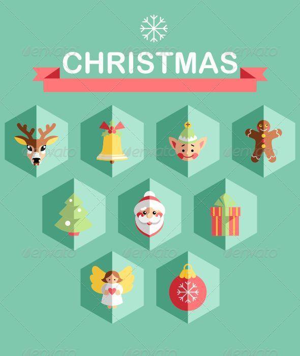 GraphicRiver Flat Christmas Icons 6273592