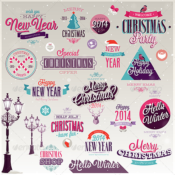 GraphicRiver Christmas Set of Labels and Emblems 6273603