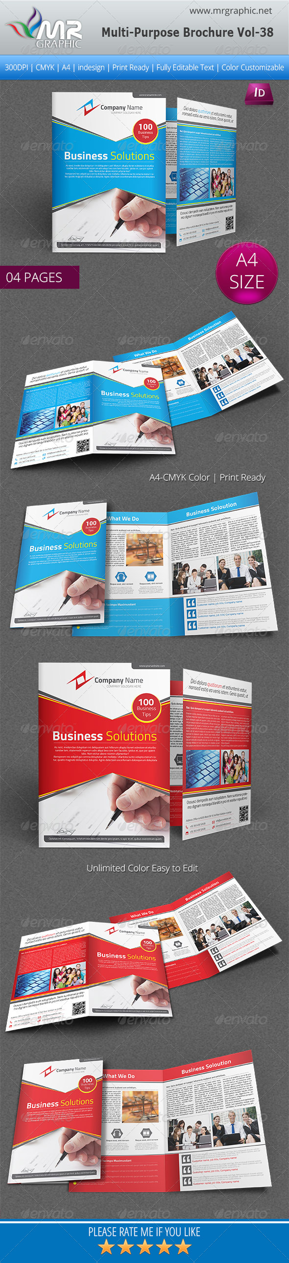 GraphicRiver Multipurpose Bi-fold Brochure Template Vol-38 6273949