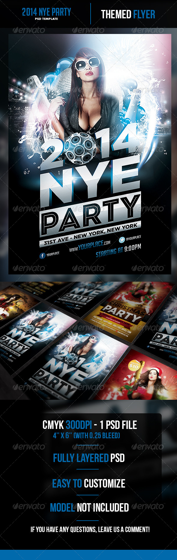GraphicRiver 2014 New Years Eve Party Flyer Template 6274110