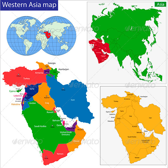 GraphicRiver Western Asia Map 6274130