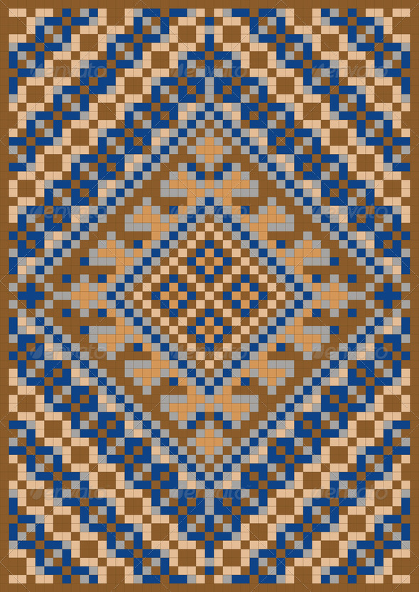 Pattern for Rug - Stock Photo - Images