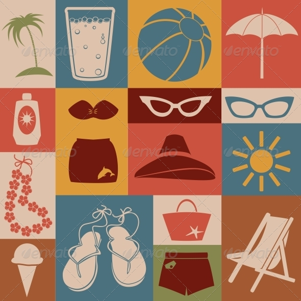 GraphicRiver Beach Icons Set 6274459