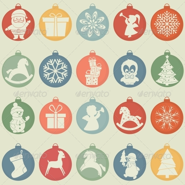 GraphicRiver Christmas New Year Set 6274462