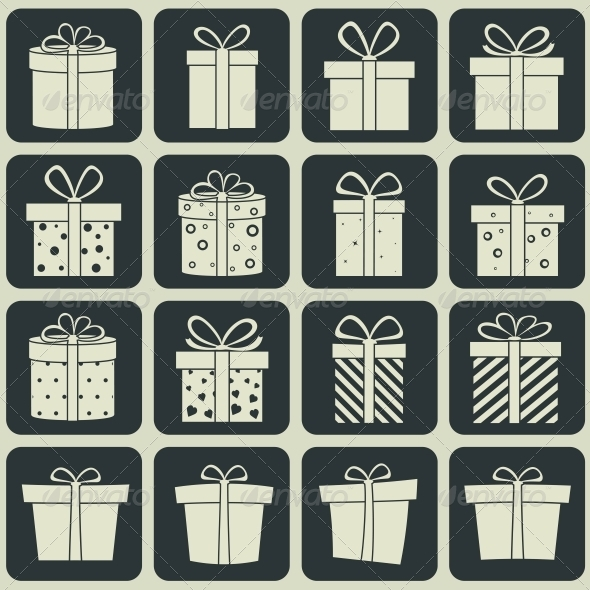 GraphicRiver Gift Boxes Icons 6274506