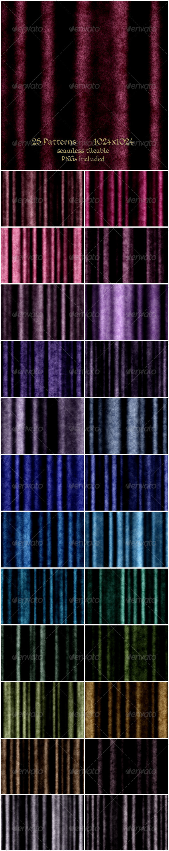 GraphicRiver 25 Velvet curtain Patterns 6275076