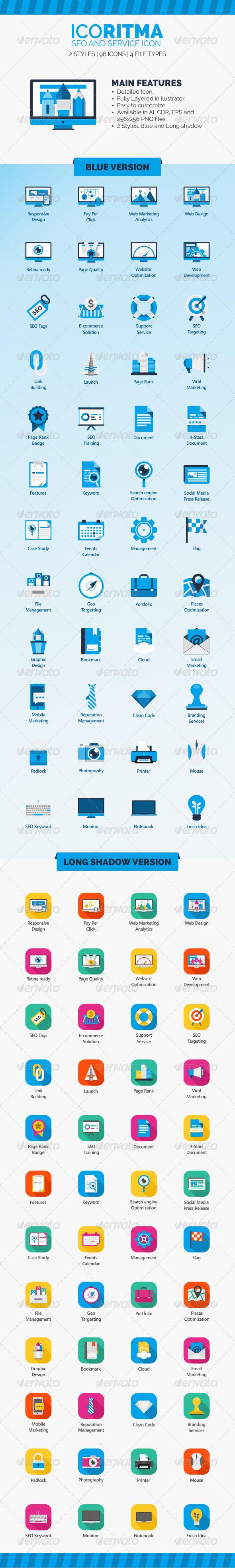 Icoritma Seo and Service Icons
