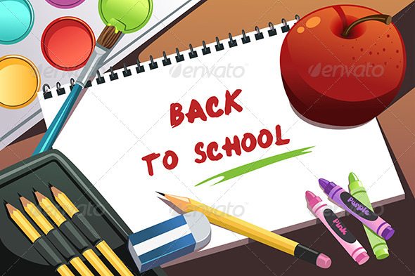 GraphicRiver Back to School Background 6275093