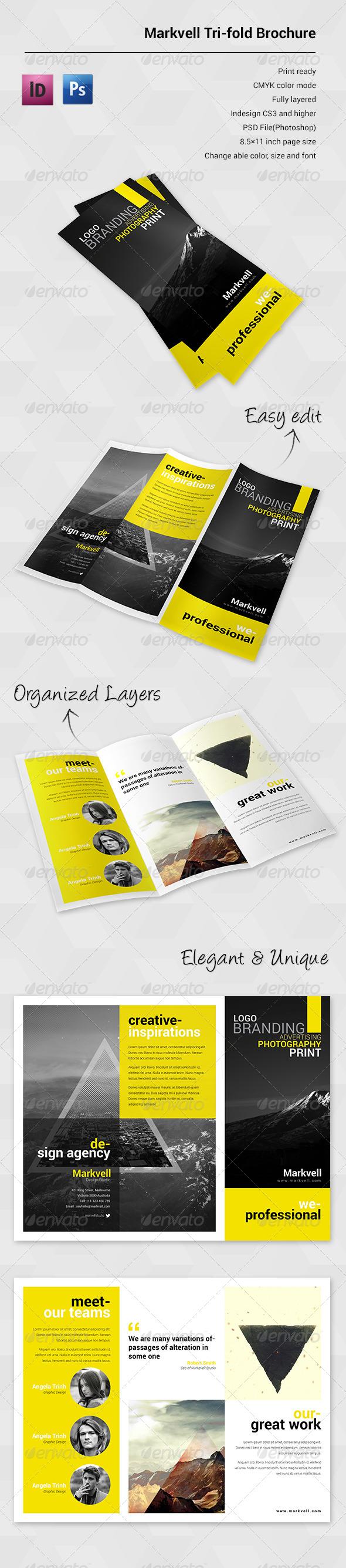 GraphicRiver Marvell Sudio Trifold Brochure 6242234