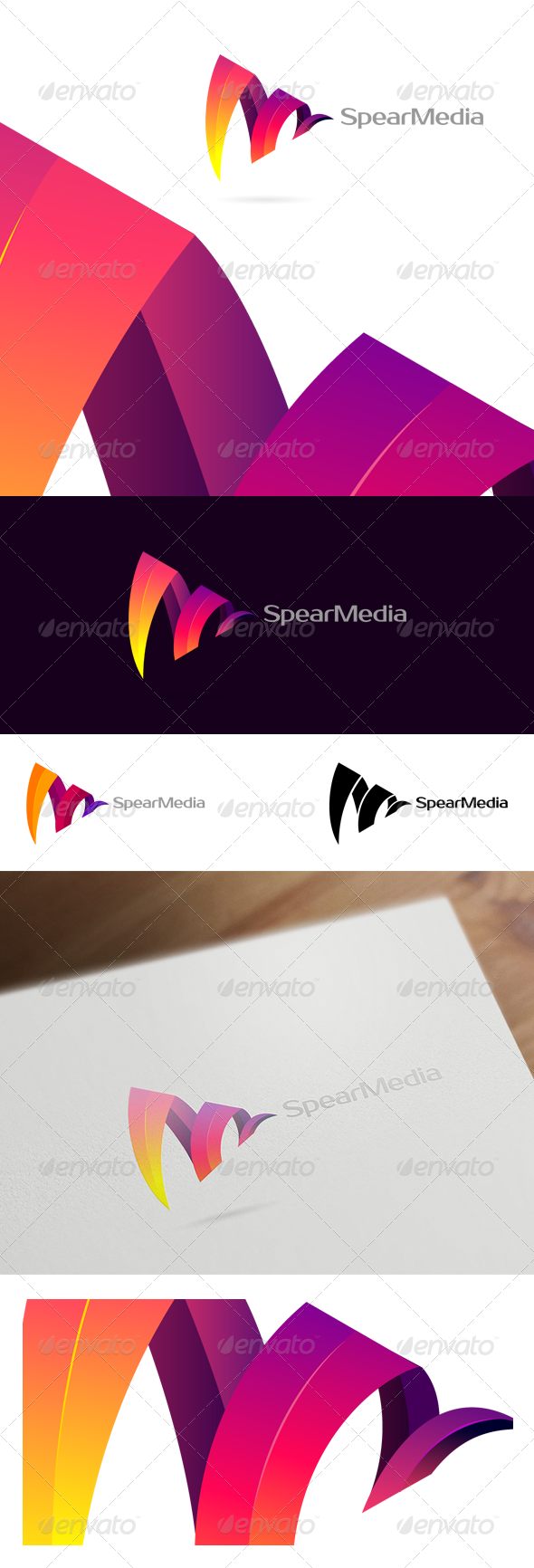 GraphicRiver Spear Media Colorful Corporate & Creative Logo 6275983