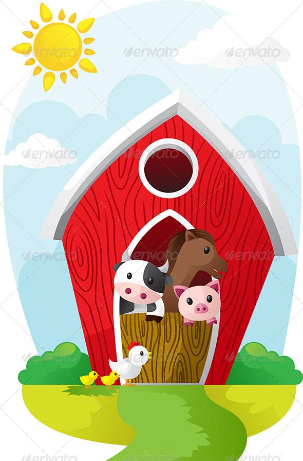 GraphicRiver Animals in Barn 6275985
