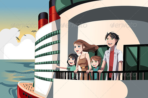 GraphicRiver Family on a Cruise Trip 6276045