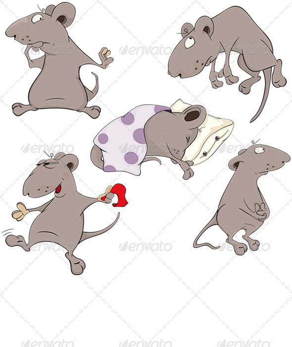 GraphicRiver Mice Clip Art 6276079