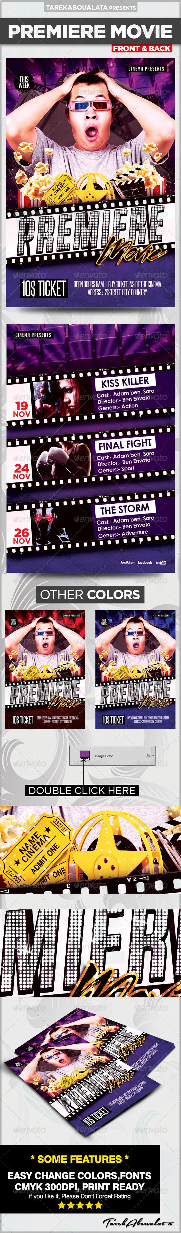 Premiere Movie Flyer  - Miscellaneous Events