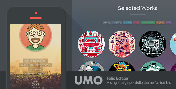 ThemeForest UMO Folio A One Page Portfolio Theme For Tumblr 6276684