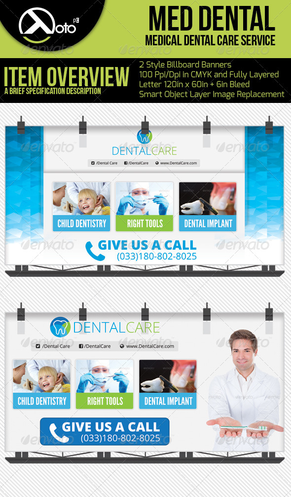 GraphicRiver Medical Dental Care Billboard 6276697