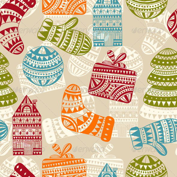 GraphicRiver Vector Seamless Winter Pattern 6276851