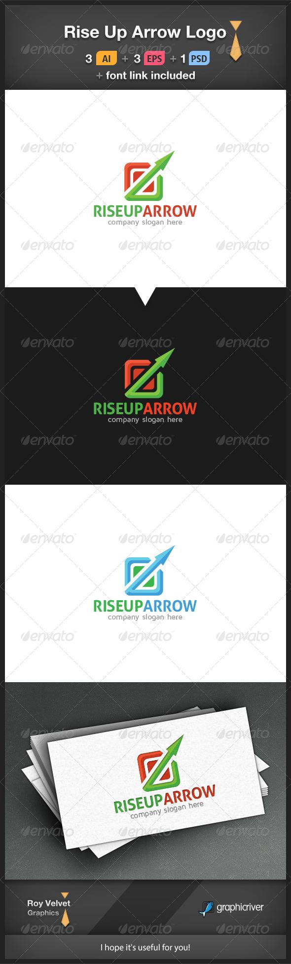 GraphicRiver Rise Up Arrow Logo 6276891