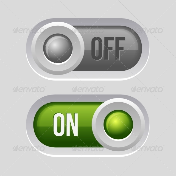 GraphicRiver Toggle Switch Sliders On and Off Position 6276944
