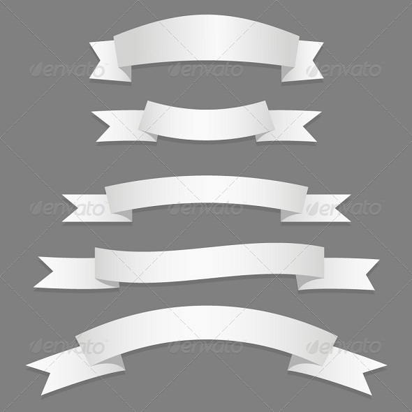 GraphicRiver Silver Ribbons Flags 6276946