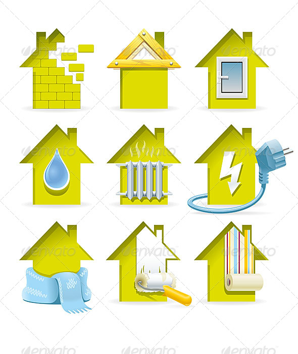 GraphicRiver Home Construction Icons 6252842